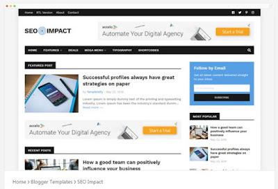 SEO Impact-Template Blog Responsive Dan SEO Dari Templateify, Cocok Untuk Publiser Adsense