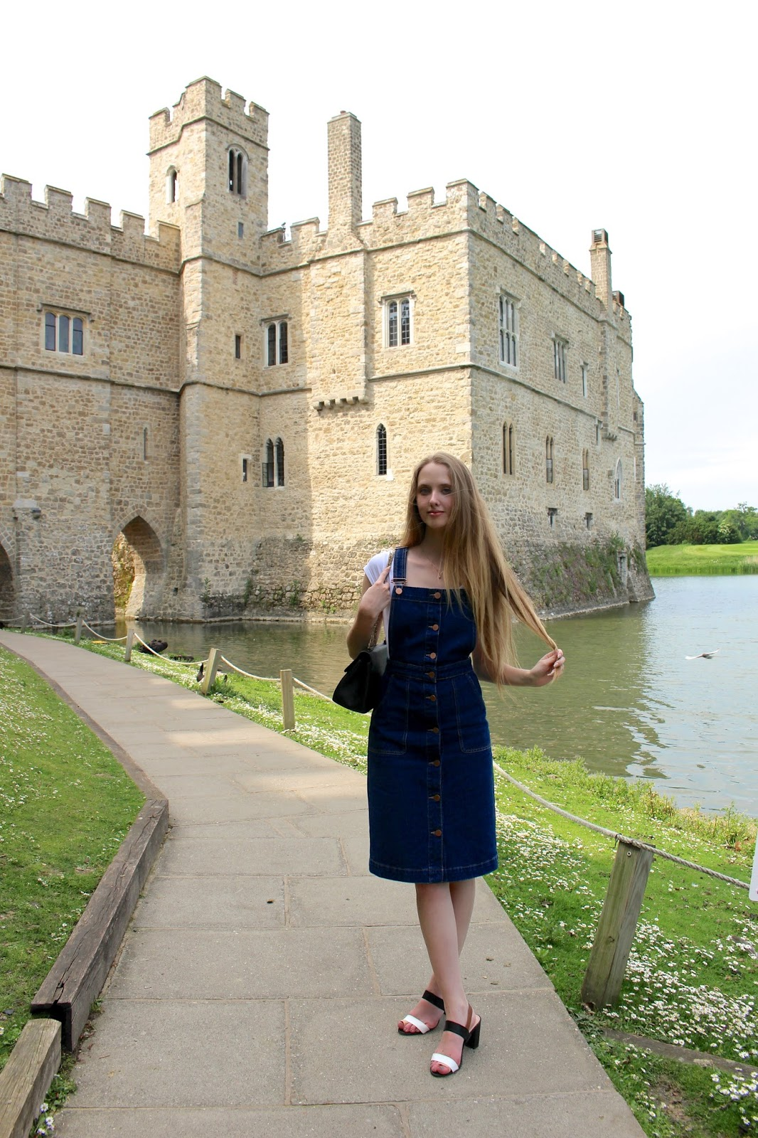 Standing outside Leeds Castle in Kent
