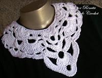 DIY Moda feminina - Gráfico do Maxicolar de Crochê