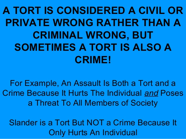 is a tort a crime