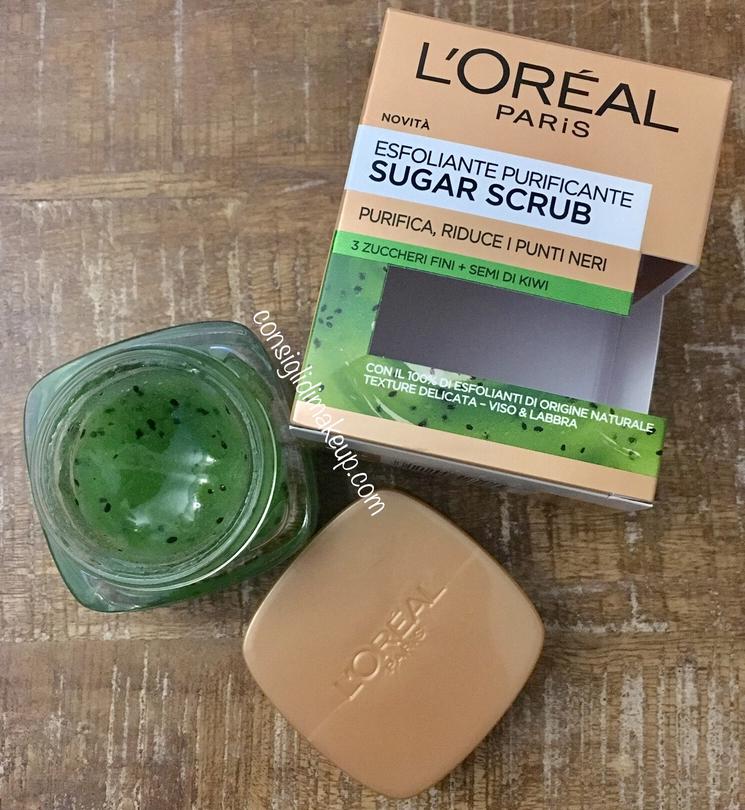 Sugar Scrub Esfoliante Purificante L'Oreal, lo scrub al kiwi