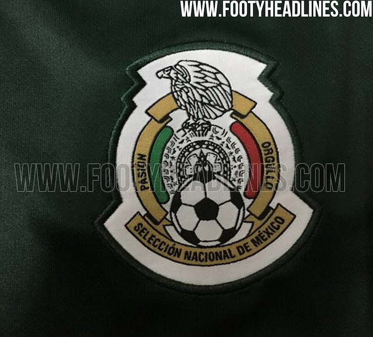 Similar to the previous Mexico home jersey, the new Mexico ...