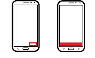 Botón de acción en el lado derecho de la pantalla y ocupando todo el ancho