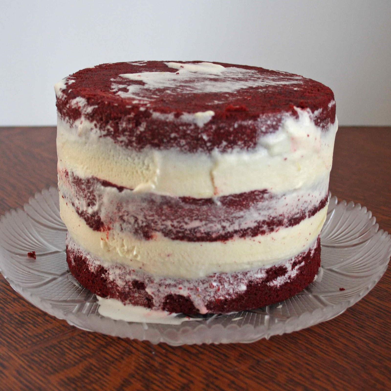 All Kinds Of Sugar Red Velvet Ice Cream Cake