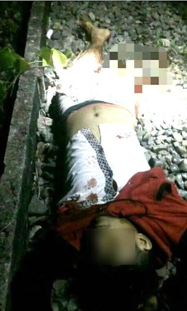 Korban yang disambar kereta api di Asahan.