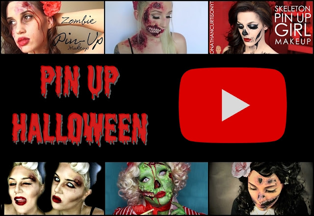 pin up sminkek Halloweenra
