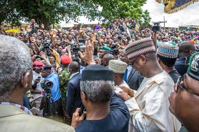Acting president, Acting President Osinbajo's Visit To Collapsed Mokwa-Jebba Bridge -PHOTOS, Latest Nigeria News, Daily Devotionals & Celebrity Gossips - Chidispalace