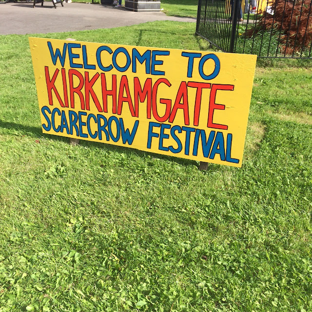 Kirkhamgate Scarecrow festival welcome sign
