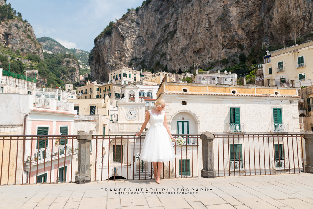 Amalfi coast bride