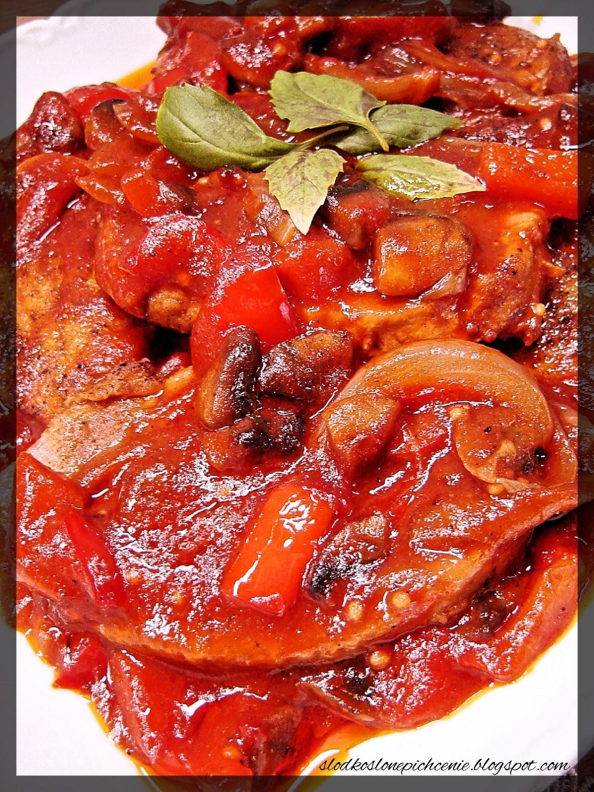 Schab w sosie ketchupowym