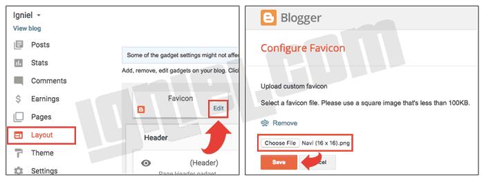 Mengubah Favicon Blogspot dengan Ikon Sendiri