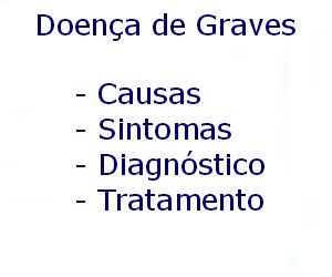 Doença de Graves causas sintomas diagnóstico tratamento prevenção riscos complicações