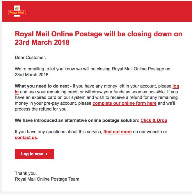 royal mail click and drop login
