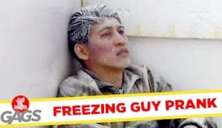 Funny Video – Man Freezes To Death
