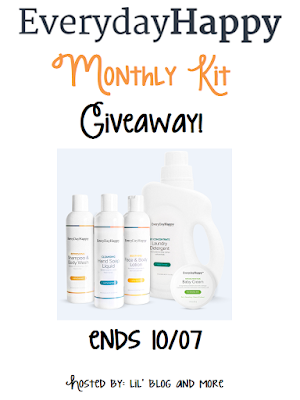 Enter the EverydayHappy Monthly Kit Giveaway. Ends 10/7