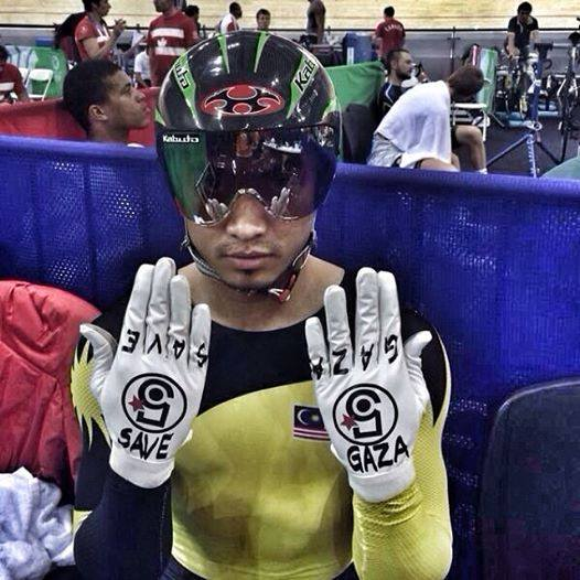 Azizul Hasni - Save Gaza Glove Commenwealth Games