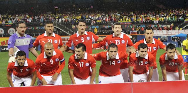 Formación de Chile ante Ecuador, amistoso disputado el 15 de agosto de 2012