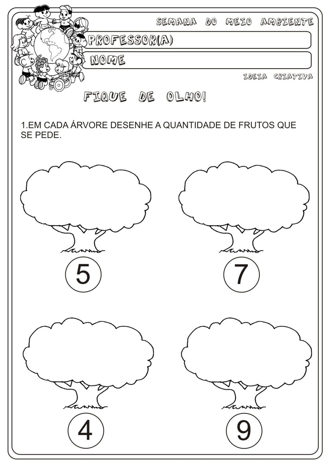 Atividade Meio Ambiente Matematica Educacao Infantil