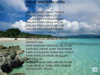 Chord Lagu Rohani : DIALAH YANG MAHA TINGGI - Hendro Suryanto
