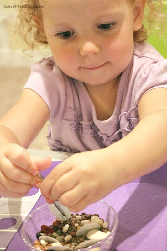 fine motor skills color matching activity