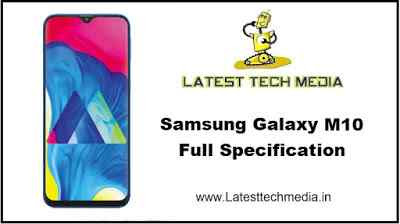 Samsung Galaxy M10 Full Specification