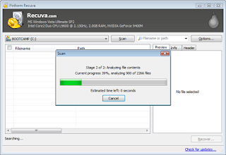 Recover deleted files for free with recuva