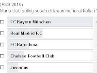 Daftar Club yang Paling Susah di PES 2016