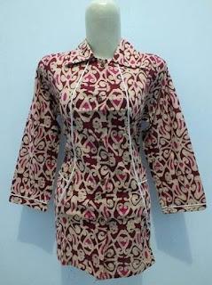 baju batik kerja wanita ukuran besar