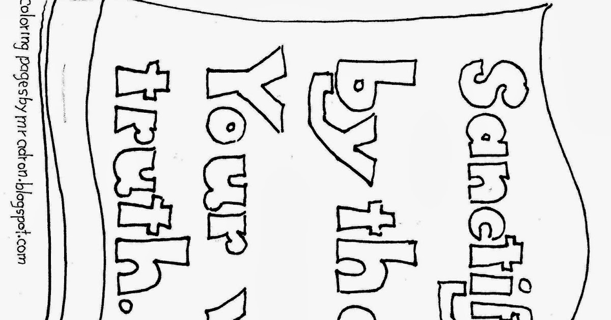Coloring Pages for Kids by Mr. Adron: Your Word Is Truth