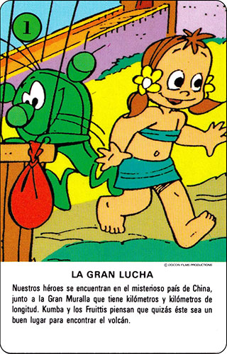 Baraja Los Fruittis Carta verde 1