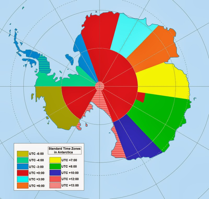 40 Maps That Will Help You Make Sense of the World - Map of Time Zones in Antarctica