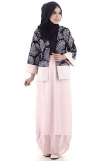 Baju batik muslim remaja casual