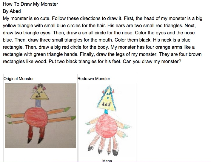 that one great idea the monster project collaborative  such a simple idea to get kids writing an authentic audience