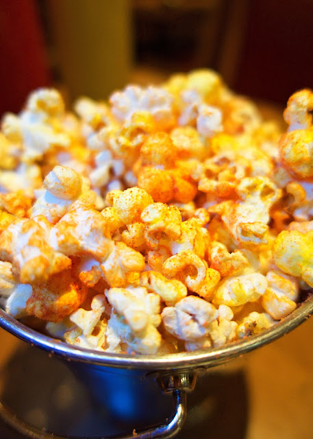 Pizza flavored popcorn at Holstein's in Las Vegas