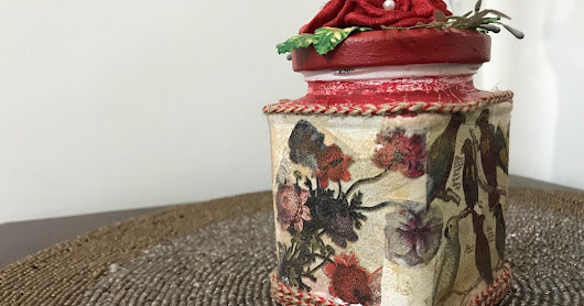 Cookie Box - Decoupage on a glass container