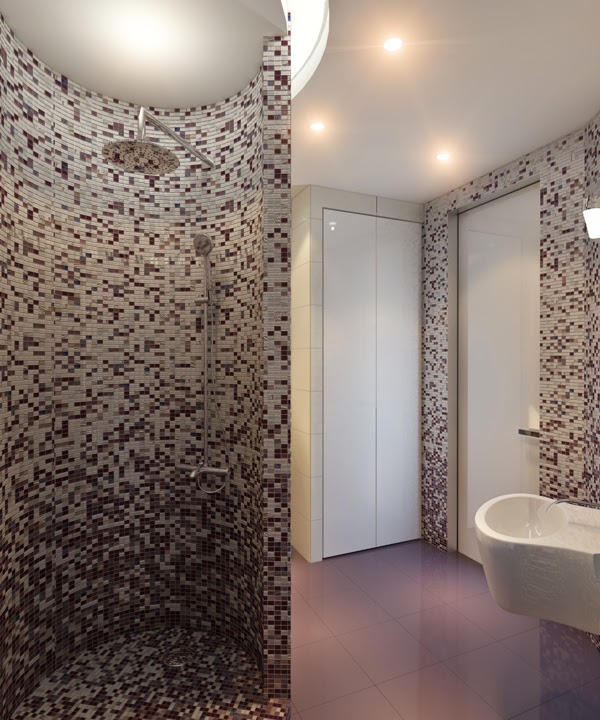 Piastrelle mosaico per rivestimenti bagno
