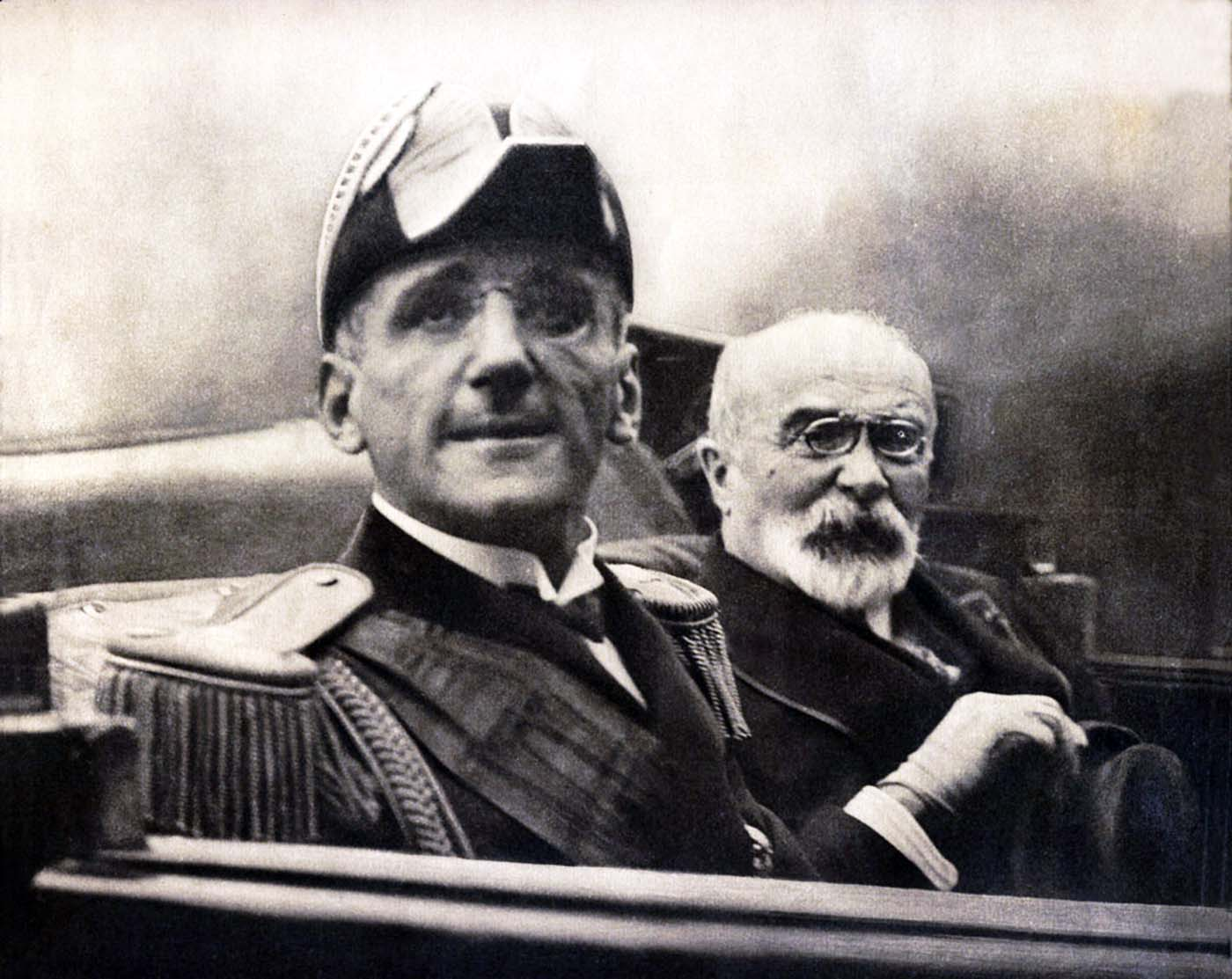 King Alexander I of Yugoslavia and Louis Barthou, French Foreign Minister, pictured on the day of their assassinations by Vlado Chernozemski, 1934.