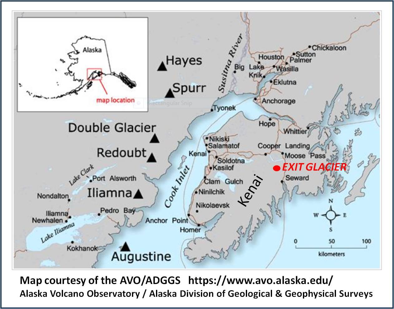 Alaska Map Volcano.Geo Gold Emmons The Kenai Peninsula And The Iliamna Volcano Alaska