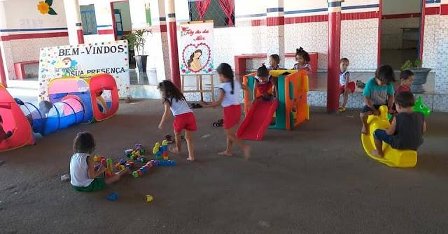 Escola Municipal Amélia Martins  em Olho D'Água do Casado é beneficiada com Brinquedoteca