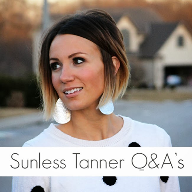Sunless Tanner Q&A's---- answers to common questions about using sunless tanner