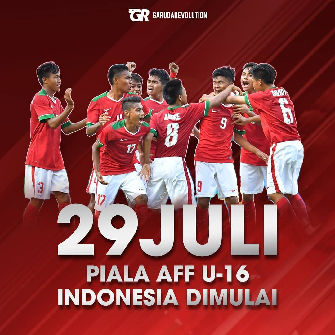 Timnas Indonesia U 16 Ingin Tampil Lebih Baik Dari Seniornya Jersey 2018 2019 19 Di Piala Aff U16 Championship