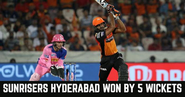VIVO IPL 2019 Match 8 SRH vs RR Live Score and Full Scorecard