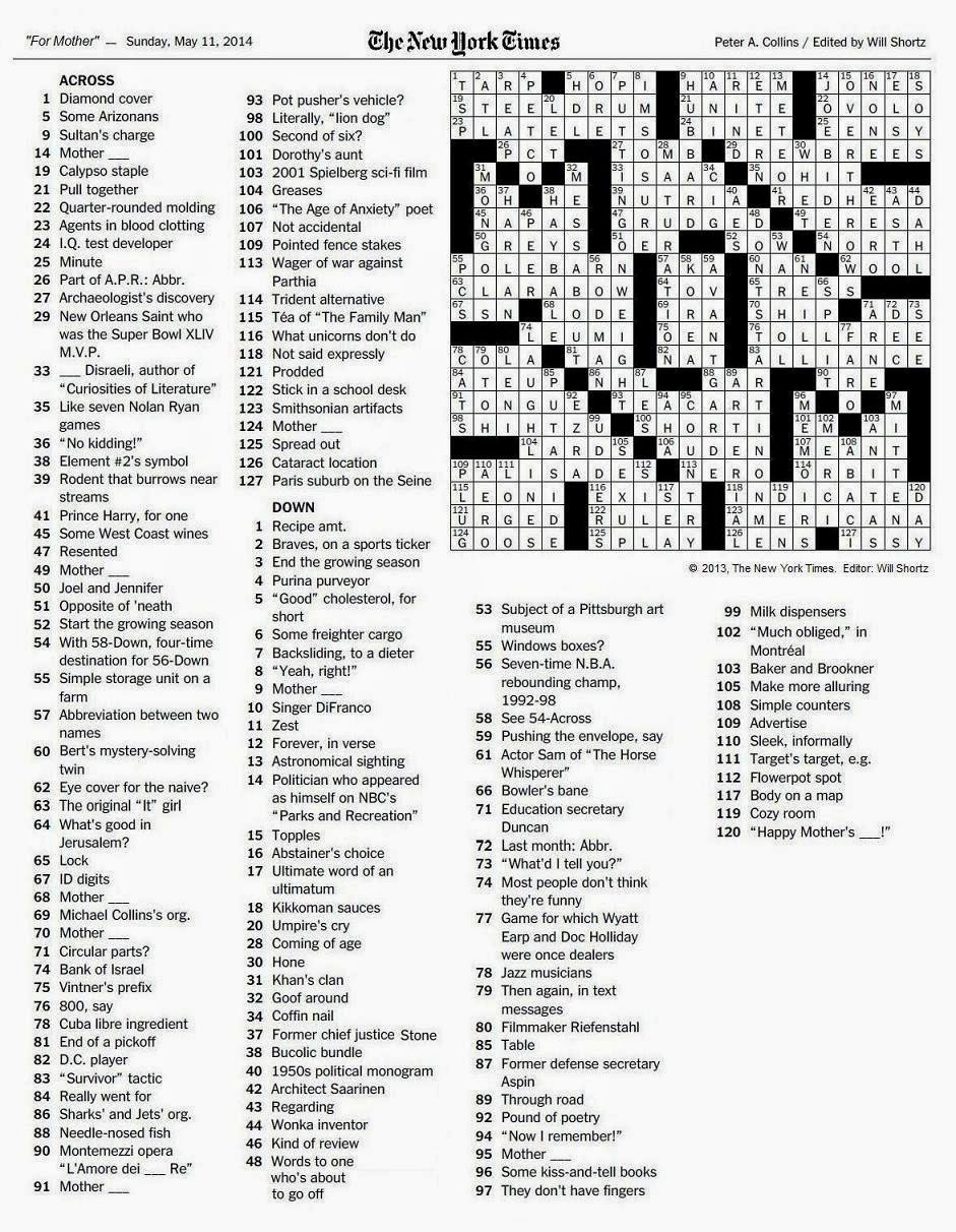 photograph relating to New York Times Crossword Printable named Options Contemporary York Days Sunday Crossword puzzles june 17 2018