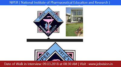 NIPER ( National Institute of Pharmaceutical Education and Research ) Raebareli Recruitment 2018