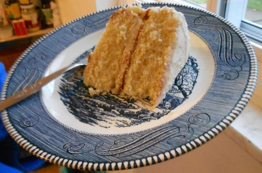 A Piece of My Delectable Yellow Layer Cake