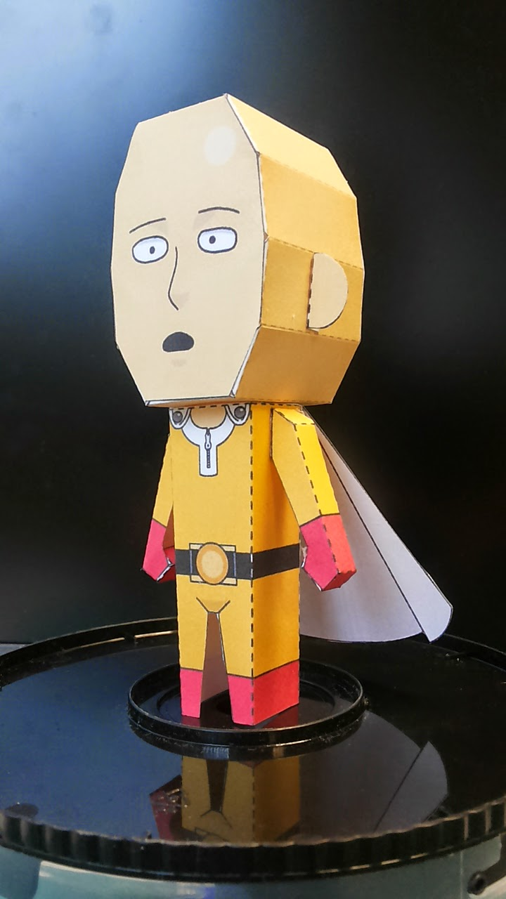 One Punch Man Paper Toy