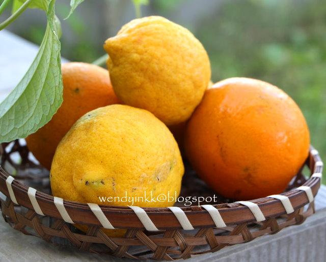 Orange Cake Cooked In Orange Rind