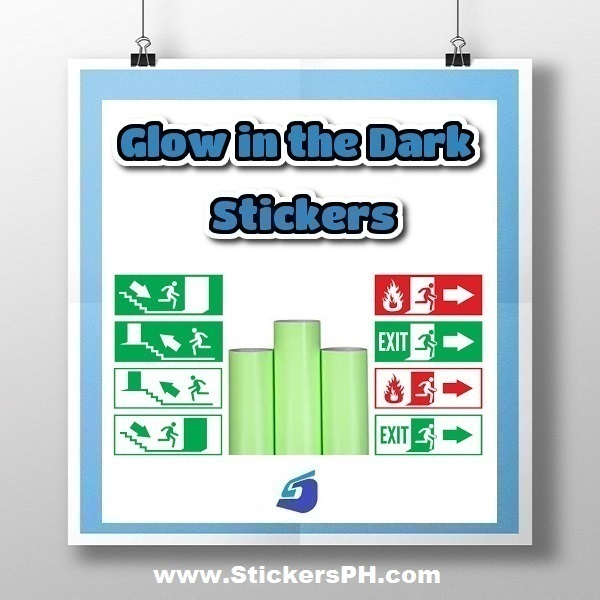 Custom Glow in the Dark Stickers, Photoluminescent Labels & Decals