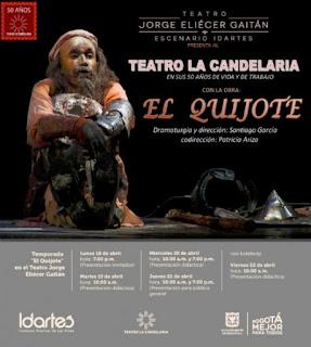 """EL Quijote"" del Teatro La Candelaria llega al Jorge Eliécer Gaitan"