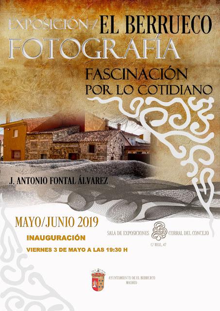 Cartel creado por el Excmo. Ayto. del El Berrueco y fotografía de J. Antonio Fontal Álvarez